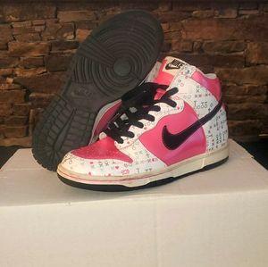 Nike Dunk High 'Pink/White ' Girls Shoes